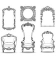 imperial baroque armchairs set with luxurious vector image vector image