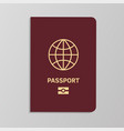 international biometric passport cover template vector image