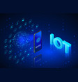 internet things concept iot isometric banner vector image vector image