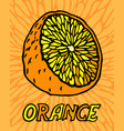 juicy orange on beautiful background vector image vector image