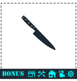 Knife icon flat vector image
