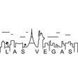las vegas outline icon can be used for web logo vector image vector image