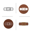 Leather belt icon vector image