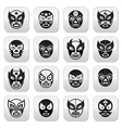 Lucha libre luchador Mexican wrestling black mask