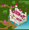medieval castle isometric vector image vector image