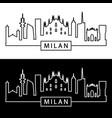 milan skyline linear style editable file vector image vector image
