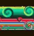 modern mexican blanket stripes wavy shape swirl vector image