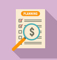 money planning icon flat style vector image vector image