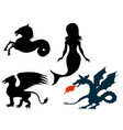 mythological creatures vector image vector image