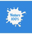 Nature Milk Product Logo vector image vector image