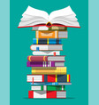 pile books vector image vector image