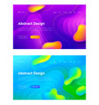 purple blue abstract liquid drop shape set vector image