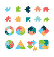 puzzle icon jigsaw incomplete pictogram puzzle vector image