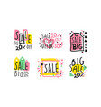 sale labels and badges design set vector image vector image