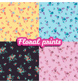 set floral prints seamless texture vector image vector image