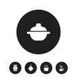 set of 5 editable meal icons includes symbols vector image