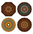 Set of doodles ethnic design elements vector image