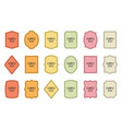 set of product labels cosmetic or food packaging vector image vector image
