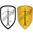 Shield crossbow and arrows vector image vector image