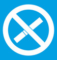 sign prohibiting smoking icon white vector image vector image