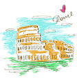 sketch colosseum vector image