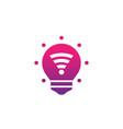 smart led light bulb icon pictogram vector image vector image