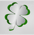 st patricks day background with clover white and vector image vector image