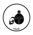 Touristic flask icon vector image vector image