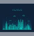 vilnius skyline lithuania trendy line style vector image vector image