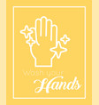 wash hands message for covid19 vector image vector image