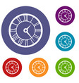 watch icons set vector image vector image