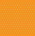 white polka dots on orange background vector image vector image