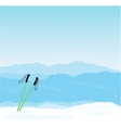 Winter banner with Canigou silhouette vector image vector image