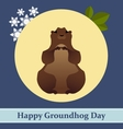 with groundhog and text vector image vector image