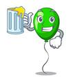 with juice green ballon cartoon ribbons