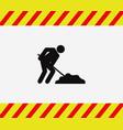 work signal icon in progress vector image vector image