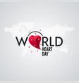 world heart day design with 3d heart shape