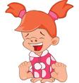 Cute Little Girl Cartoon Character vector image