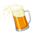 mug with light beer and froth for vector image