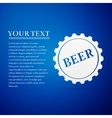 Beer bottle cap flat icon on blue background vector image
