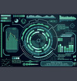 futuristic virtual graphic touch user interface vector image