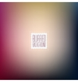 Smooth abstract colorful blurred background vector image
