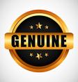 genuine seal vector image