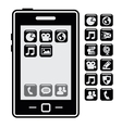 smartphone with application vector image