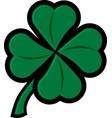 4 leaf clover lucky shamrock vector image
