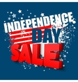 4th of july sale background vector image
