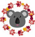 a koala and leafy wreath vector image vector image