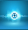 abstract background with eye and circuit vector image vector image