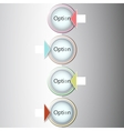 Abstract light numbered circles infographic design vector image vector image