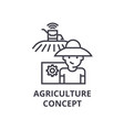 agriculture concept line icon outline sign vector image vector image